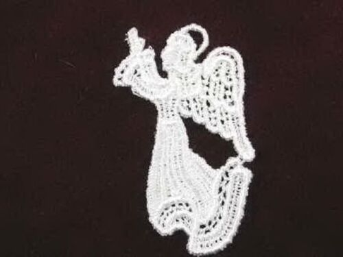 Ivory Angel Venise Lace Sew On Applique 2.75 Inch