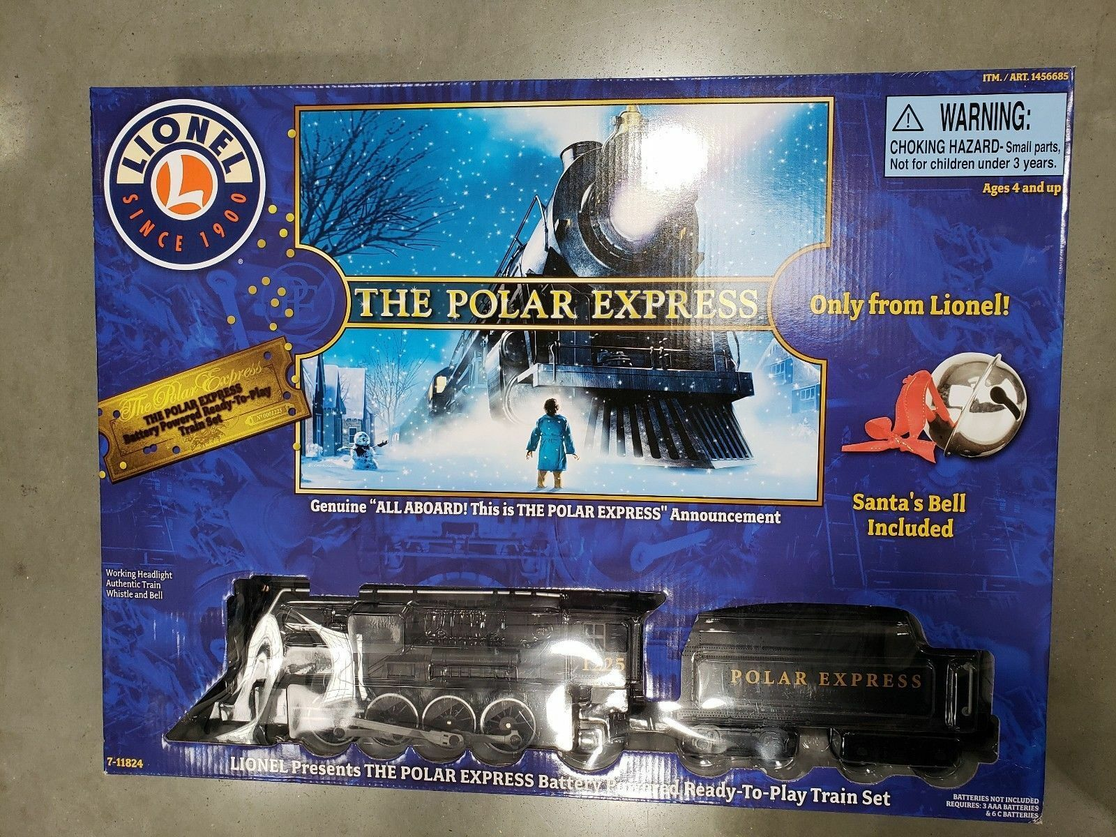 NEW 2018 LIONEL THE POLAR EXPRESS TRAIN SET IN BOX  7-11824 GENUINE AUTHENTIC