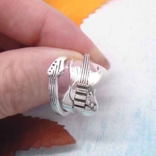 Gitarre Musik Rock Pop Musiker Design Ring Ø 17,5 mm 925 Sterling Silber neu