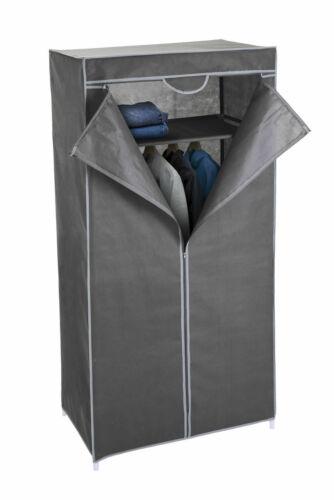 Stoff Kleiderschrank grau 160 cm Stoffschrank Faltschrank Garderoben Schrank