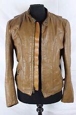 Vintage 60s Brooks Gold Label Cafe Racer Leather Biker Motorcycle Jacket Coat S
