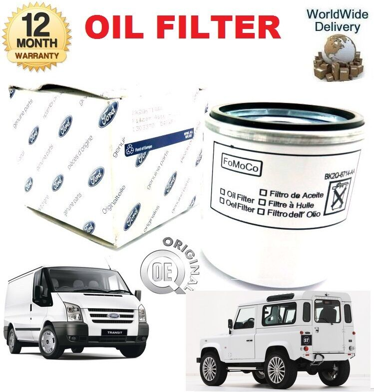 For Ford Transit 2.2 TDCI 2011 -    & Land Rover Defender 2.2 Td4 2011 -   OIL FILTER  clients first reputation first