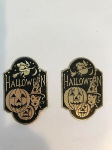 Vintage-Halloween-Gummed-Foil-Seals-Stickers-Witch-Moon-Jack-O-Lanterns-Dennison