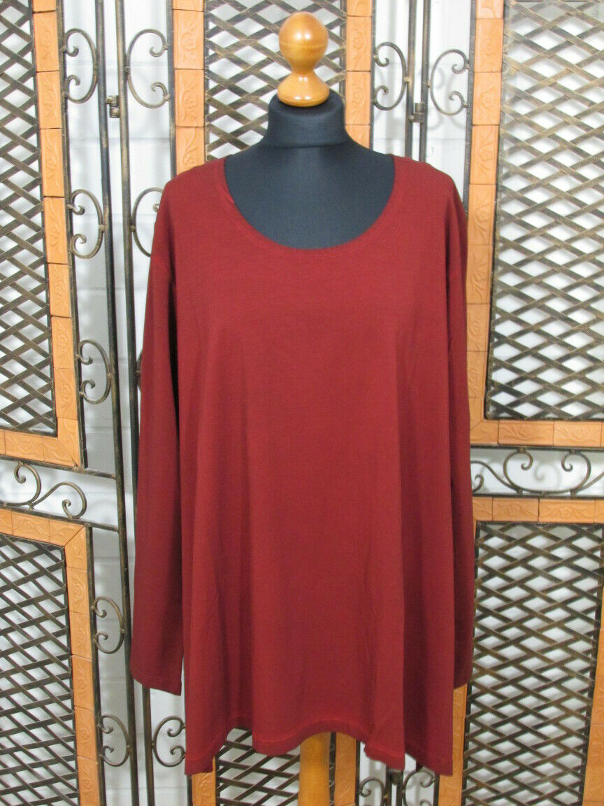 Barbara Speer leichtes A-Linie Shirt in rot old look NEU   Lagenlook