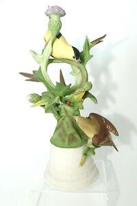 Vintage-Original-Boehm-Porcelain-Figurine-Goldfinches-457-Breeding-Pair-Porcelai