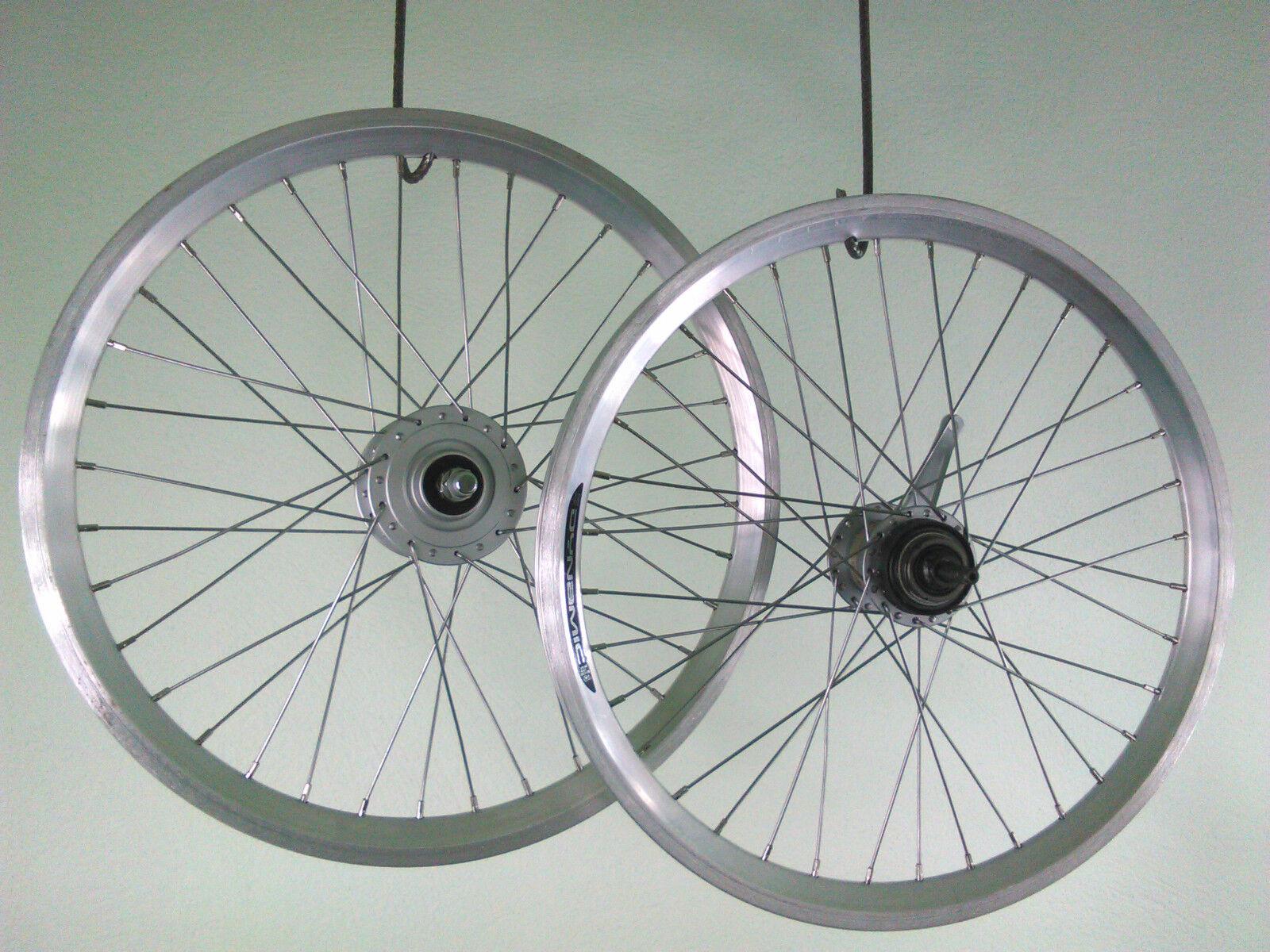 20 pulgadas ruedas Dinamo & Nexus 3 marchas buje circuito nuevo + Zub plata.