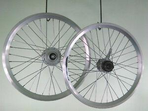 20-Zoll-Laufradsatz-Dynamo-amp-Nexus-3-Gang-Nabenschaltung-NEU-Zub-silber