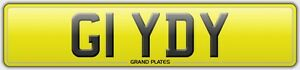 Number-plate-G1-YDY-registration-GIDDY-REG-GIDEON-FEES-PAID-GIDS-UK-GIDD-ALL-INC