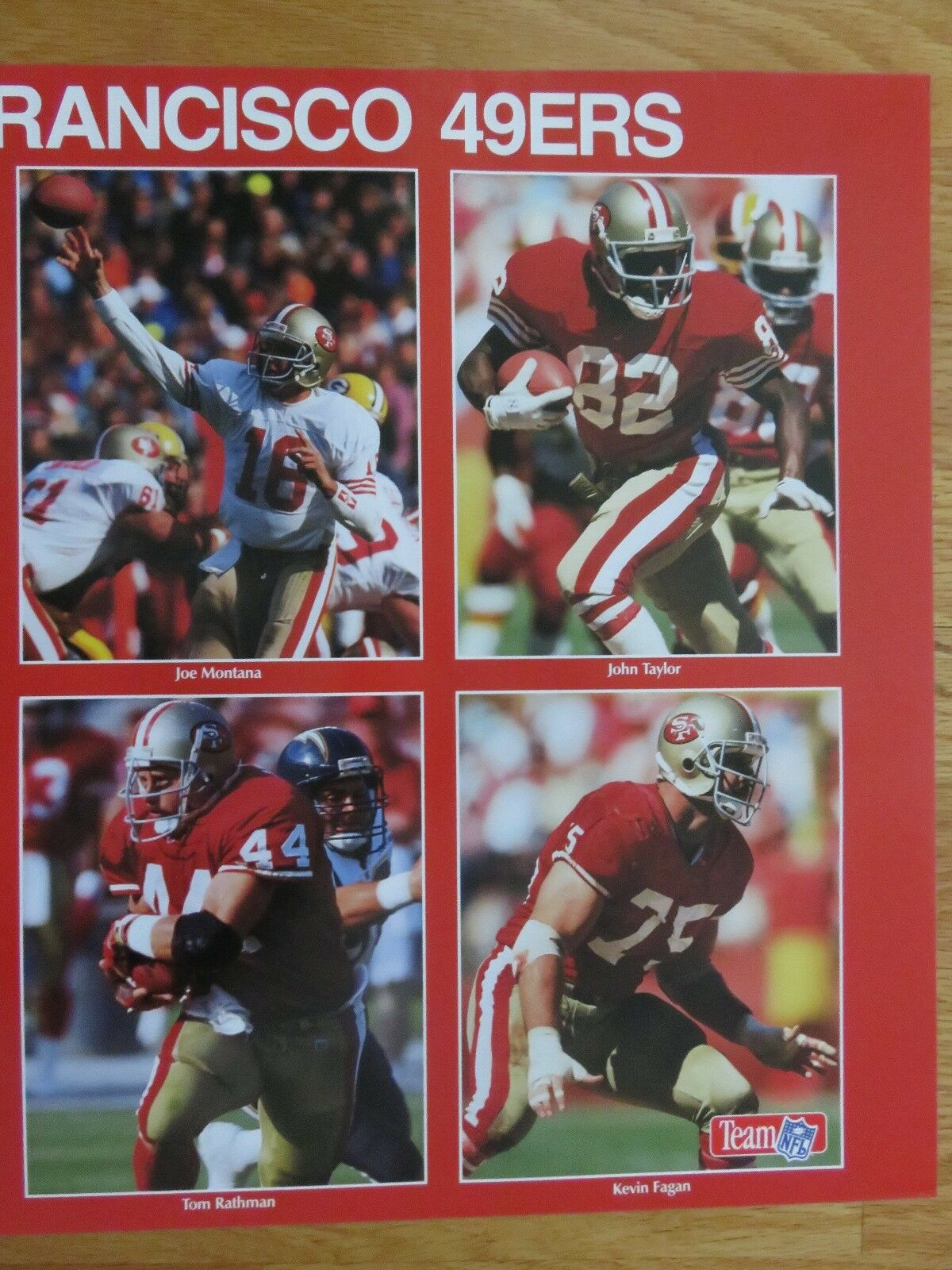 1189e75f 16 X 20 Jerry Rice & Joe Montana San Francisco 49ers Photo