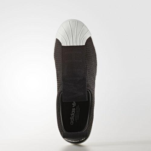 Femmes Adidas BY9137 Superstar Slip On chaussures De Loisirs noir blanc Baskets