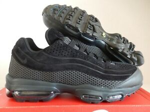 NIKE AIR MAX 95 ULTRA PREMIUM BR BREATHE BLACK-BLACK-VOLT SZ 10 ...