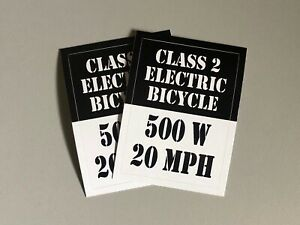 eBike-Class-2-or-3-Sticker-Decal-for-Electric-Bike-Sur-Ron-2-pack