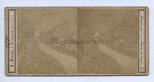 Francia Murbach Alto Reno Alsace Stereo A. Braun Vintage Albumina Ca 1860
