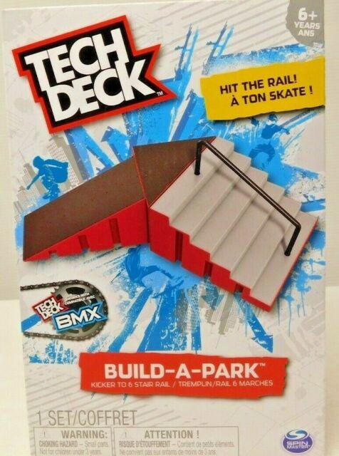 Build A Park New TECH DECK Kicker To 6 Stair Rail Hit The Rail