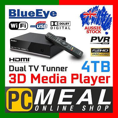 BlueEye V9T3 4TB Full HD 1080P Media Player Recorder 3D Dual DTV Tunner PVR WIFI