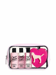 ca072e9410456 Details about Victoria's Secret Pink Coconut Oil Body Care Gift Set Bag  Lotion Body Wash NWT