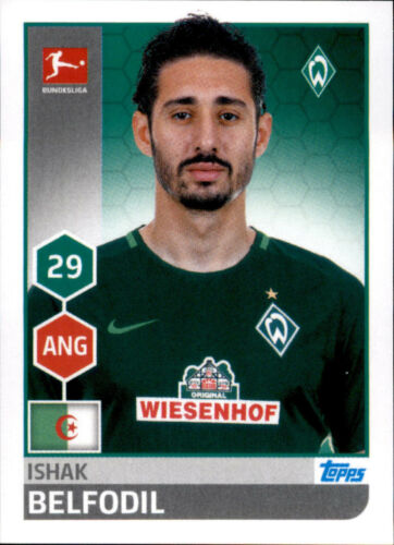 Ishak Belfodil TOPPS Bundesliga 2017//2018 Sticker 47