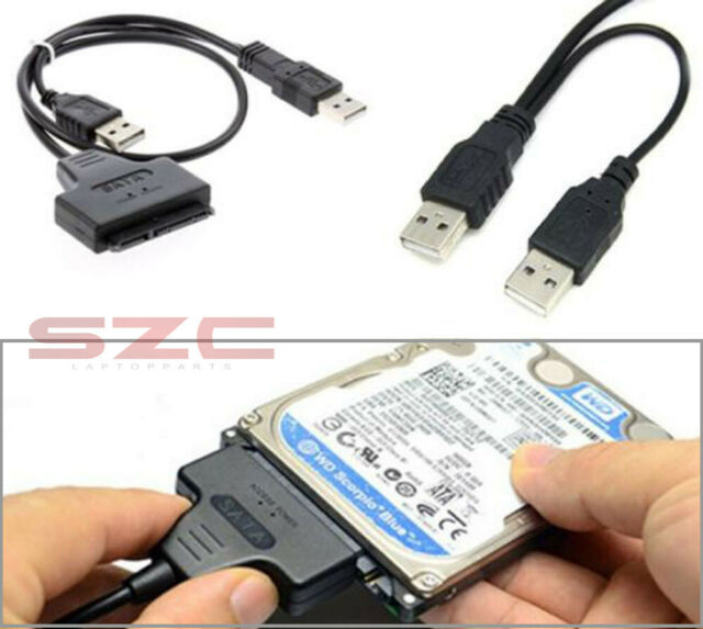 """HDD SATA 7+15 Pin 22Pin to USB 2.0 Adapter Cable for 2.5"""" Laptop Hard Drive Disk"""