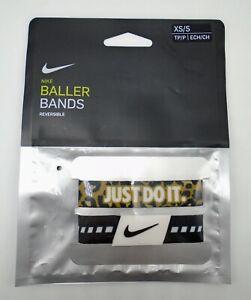 Nike Baller Bands Reversible Adult Unisex XS/S Black/White/Wheat
