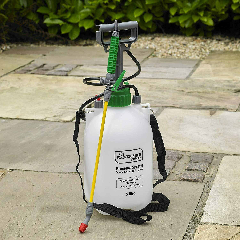 5L / 8L Garden Pressure Sprayer – Portable Hand Pump Chemical Weed Spray Bottle