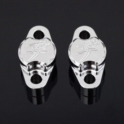 For Suzuki GSX1300R Hayabusa 99-18 Brake//Clutch Master Cylinder Clamp Cover Cap
