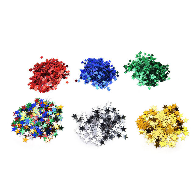 Wedding Sparkle Scatter Stars Table Confetti Foil Birthday Party Decor I2