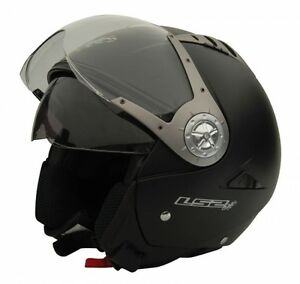 LS2 Helmet - OF545 Matt Black-Dual Visor Open Face Imported Motorcycle Helmet XL