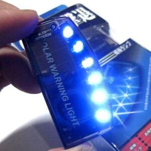 6led blue solar power car auto alarm warning flashing. Black Bedroom Furniture Sets. Home Design Ideas