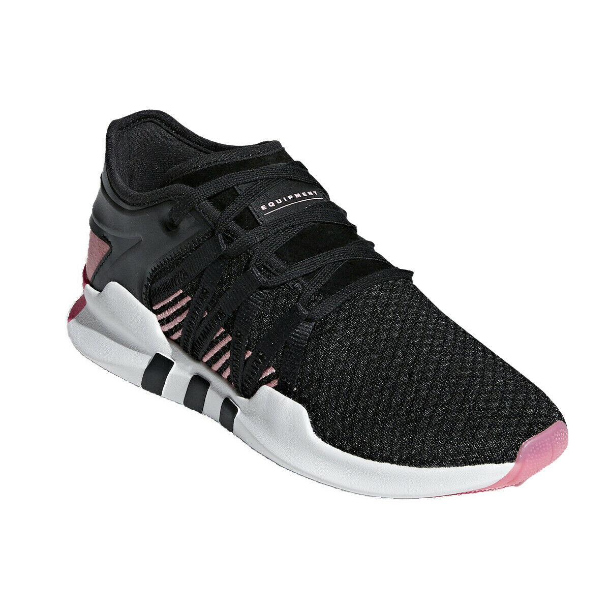 55743e062b3f ADIDAS WOMEN S ORIGINALS EQT ADV RACING SHOES B37092 CORE BLACK BLACK BLACK  CORE BLACK PINK 9d736b