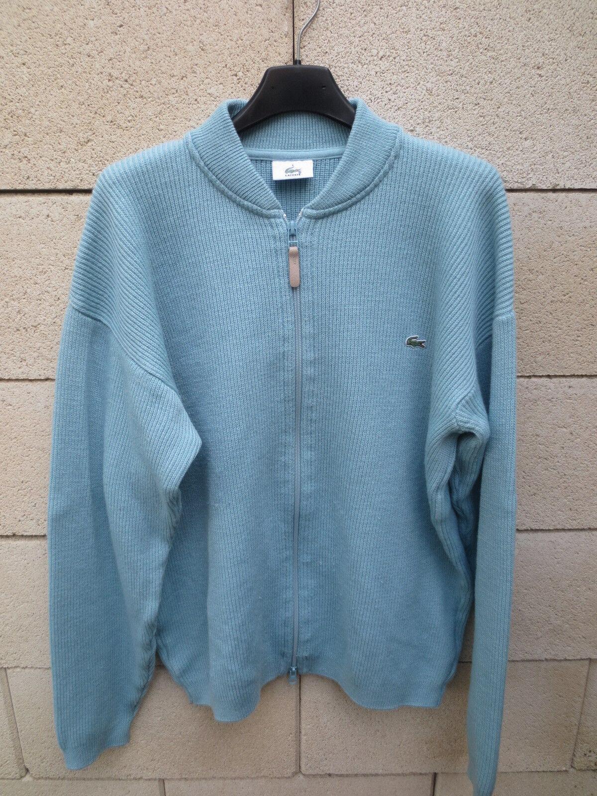 Woolmark Gilet Ciel 5 Bleu Devanlay Laine Wool Lacoste rqwxTar