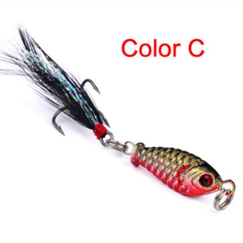 1Pc//4Pcs Hard Metal Fishing Lures Small Minnow Lure Bass Crank Bait Tackle Hooks