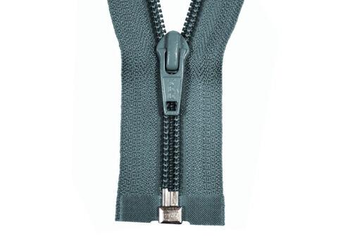 YKK Reißverschluss 1Wege blaugrau teilbar 140cm lang 5mm Spirale
