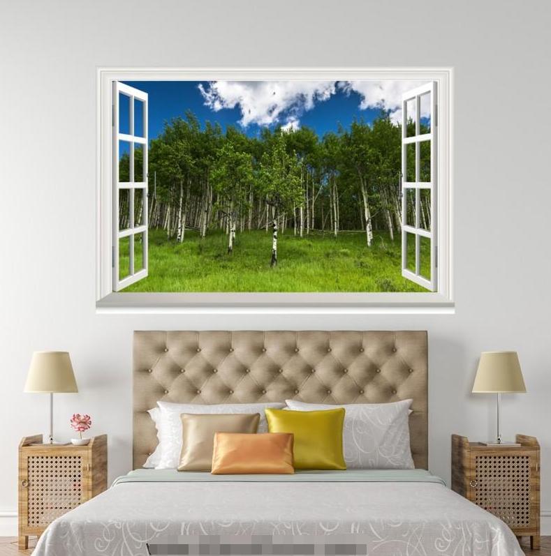 3D Plant Sod 4225 Open Windows WallPaper Murals Wall Print Decal Deco AJ Summer