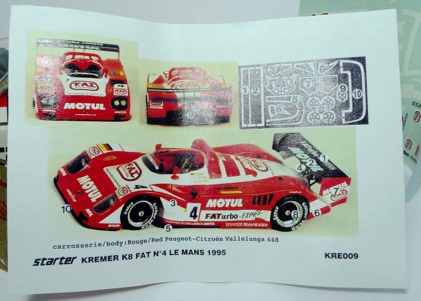 Kit Starter 1 43  -  PORSCHE KB F.A.T N°4 LE MANS 1995
