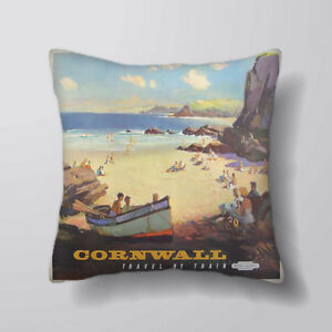 Image Is Loading Cornwall Beach Printed Cushion Covers Pillow Cases Home