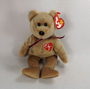 1d52c0781f3 BROWN 1999 SIGNATURE BEAR 2 ERRORS-TY BEANIE BABY-ADULT OWNED-EX ...