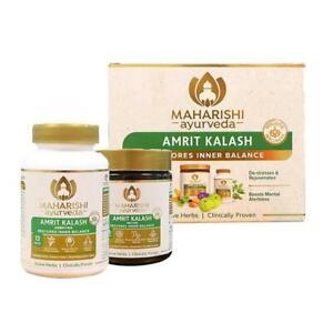 Maharishi-Amrit-Amrut-Kalash-600g-Paste-amp-60-Tab-New-Packaging-Free-Ship