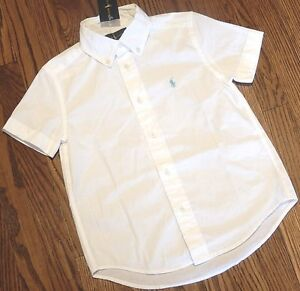 POLO RALPH LAUREN ORIGINAL BOYS BRAND NEW WHITE DRESS SHIRT Size S (8), NWT