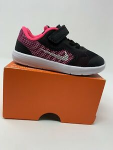 Image is loading BABY-GIRL-Nike-Revolution-3-Shoes-Pink-amp- 5c7f820ee