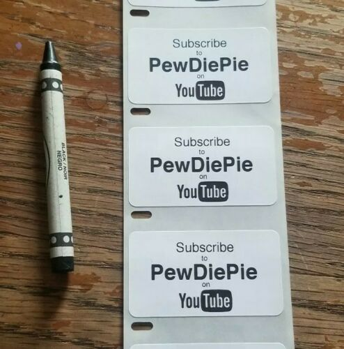 "Lot de 100 /""Ouvrez PEWDIEPIE/"" autocollants YouTube gag decal"