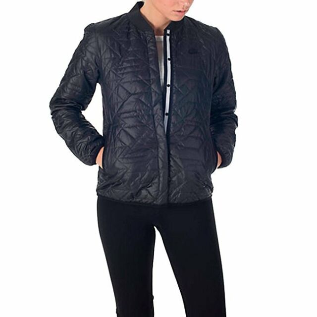 f689c7527369 Nike Sportswear Quilted Women s Jacket Sz. Small Medium 854747 Black ...