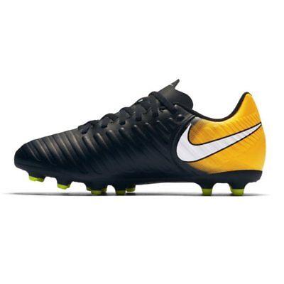 Nike Junior tiempo RIO iv (fg) fester Boden Fußballschuhe - schwarz/laser Orange