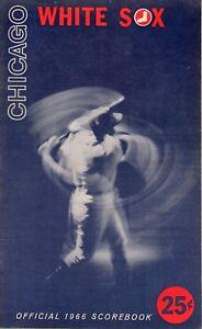 1966-May-21-Baseball-program-Cleveland-Indians-Chicago-White-Sox-scored-VG