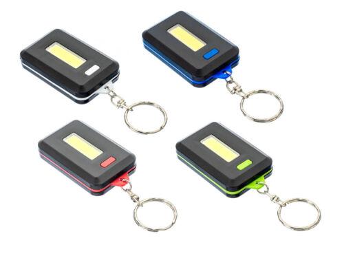4pc 160 Lumen 1 Watt COB LED Keychain Flashlight Assorted Colors #FL3824-4