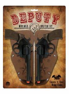 Deputy-Double-Holster-Cap-Gun-Pistol-Toy-Set-New-Free-Shipping