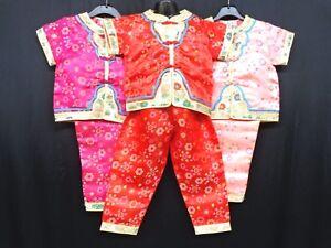 7585ffe91e Image is loading Childrens-GIRLS-Oriental-Japanese-Chinese-Kimono-Style -Pyjama2-