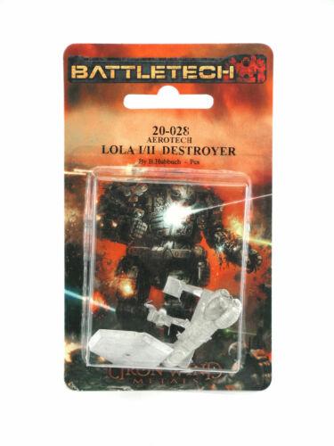 Battletech Lola I//II Destroyer #20-028 Unpainted Sci-Fi Metal Miniature Figure