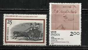 POSTAL-HISTORY-INPEX-039-75-STAMP-EXPO-ON-INDIA-1975-Scott-709-710-MNH