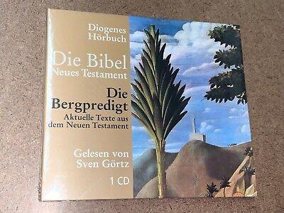 Hörbuch Die Bergpredigt Die Bibel Neues Testament gel von Sven Görtz 1 CD Neu