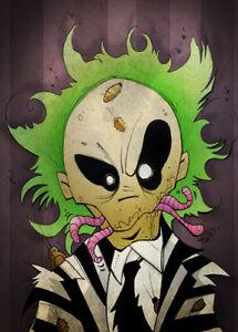 Beetlejuice Art Print | eBay